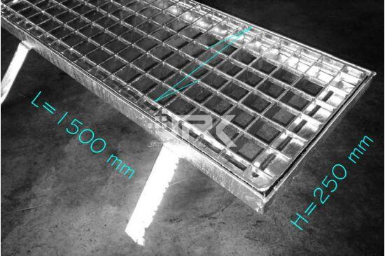 Csatornarács 250x1500 mm-es, beépíthető kerettel