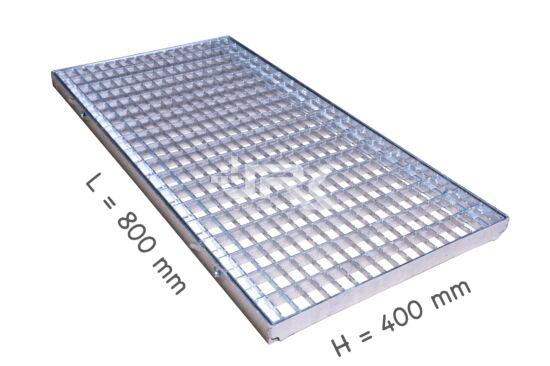 Lábtörlőrács 400x800 mm-es, beépíthető kerettel