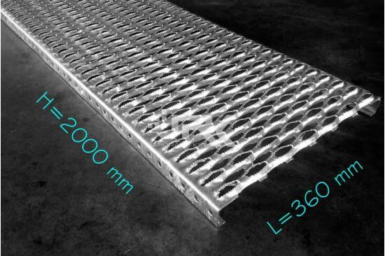 Domborított rácsozat 2000x360 mm-es
