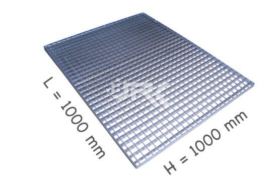 1000x1000 mm-es 30x3-as Tűzihorganyzott járórács